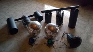 luces bola espejada