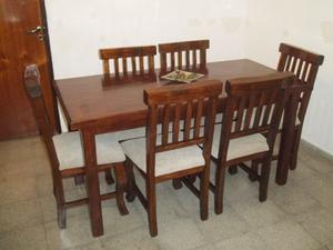Comedor NUEVO 6 sillas !! Flete sin cargo !!