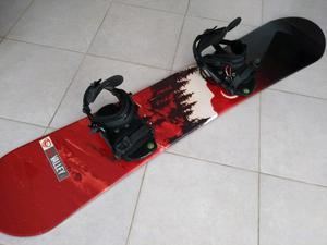 Tabla Snowboard 155 con Fijaciones todo como Nuevo