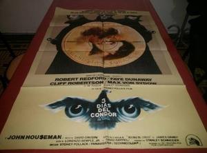 3 Dias Del Condor Afiche De Cine Original