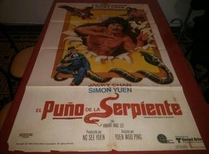El Puño De La Serpiente Jacky Chan Afiche De Cine Original