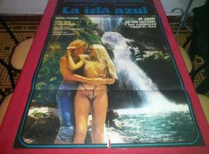 La Isla Azul Afiche De Cine Original