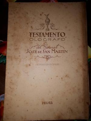 Testamento Olografo De Del General San Martin