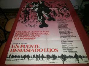 Un Puente Demasiado Lejos Afiche De Cine Original