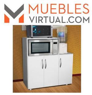 Porta microondas mueble de cocina con cajon y posot class for Manual para muebles de cocina