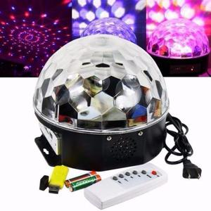 Bola Led Media Esfera Audioritmica Rgbw Sd Usb Tecno Cooler