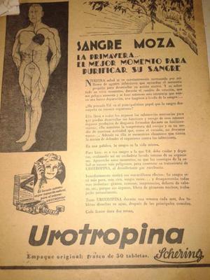 PUBLICIDAD UROTROPINA SHERING ANTIGUA