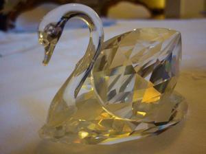 adorno de cristal facetado sellado swarovski cisne