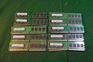 memoria ddr2 1 gb x 10 unidades 800$ testeadas