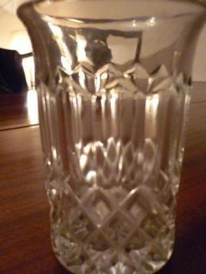 vasos de refresco de cristal traslúcido talladocon virola