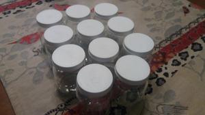 Frascos Yogurt Vidrio Dahi Con Tapa Hermetica
