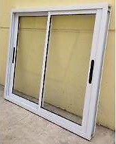 Ventana aluminio blanco 180x150 vidrio entero AL COSTO POR
