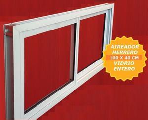 ventana aluminio blanco 100x40 vidrio entero AL COSTO POR