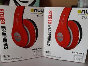 Auriculares Only bluetooth Inalambricos y auxiliar