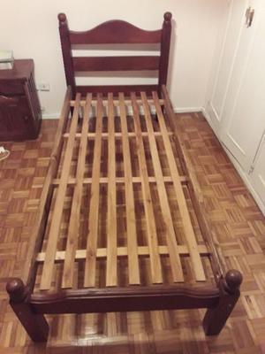 Dos camas de madera de 1 plaza con o sin colchón Piero