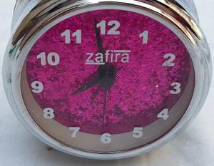 Reloj Despertador Marca Zafira Con Campanilla Nuevo.