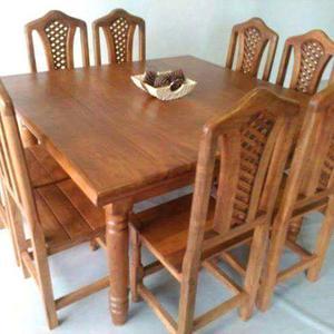 Juego de mesa con sillas algarrobo