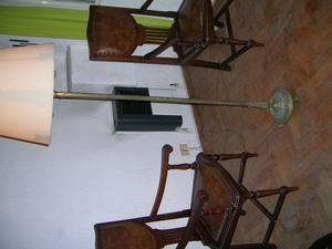 LAMPARA DE PIE, TODO BRONCE