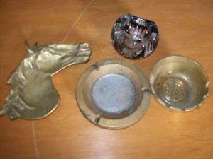 ceniceros varios de vidrio o bronce