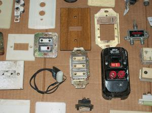 lote de materiales de electricidad antiguos $300