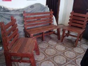 Sillones rusticos con almohadones posot class for Almohadones para sillones jardin
