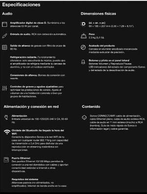Parlantes Sonos Sin Uso, Nuevo!!! Oportunidad