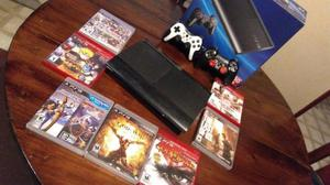 VENDO PLAY STATION 3 CON 2 JOYSTICKS, 8 JUEGOS FÍSICOS,