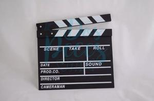 Claqueta De Cine Pizarra 30 Cm X 27 Cm