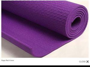 Colchoneta Yoga Mat - 4 Mm. Espesor 170 X 60 Cm Color Lila