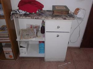 Mueble planchador melamina 2 ptas tabla planchar posot class - Mueble para guardar tabla de planchar ...