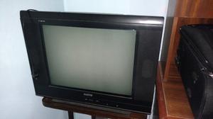 Tv de tubo Sanyo Vizon. Pantalla plana y cuerpo delgado.