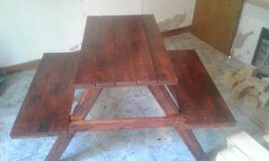 Mesa con carretel de cable reciclado posot class - Mesa con bancos ...