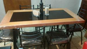 Mesa mas 6 sillas nuevas con envio!!