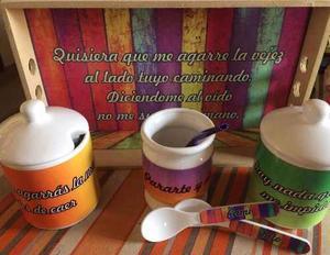 Set De Mate (todo Ceramica) Personalizados **art-factory**