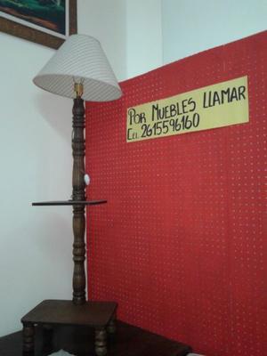 VENDO HERMOSA LAMPARA RUSTICA ALTA.