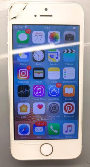 iPhone 5s 32 G libre de fábrica, funciona perfecto