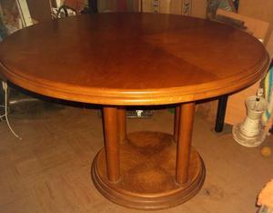 mesa de roble C/ vidrio mas 4 sillas