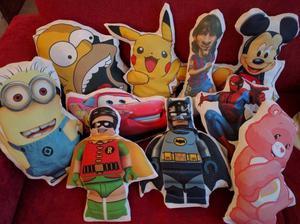 Almohadones sublimados varios personajes