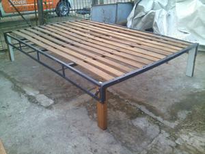 Cama de plaza y media en madera san isidro posot class for Cama nido 1 plaza y media