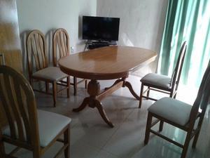 Mesa y sillas de roble posot class - Sillas de roble ...