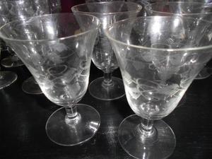 copas de vidrio talladas