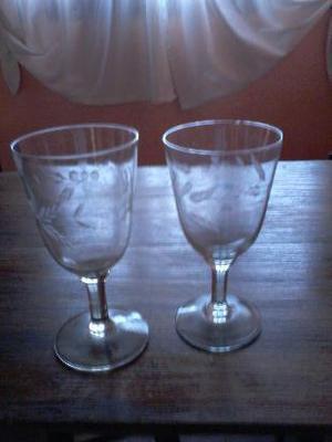 vendo par de copas talladas