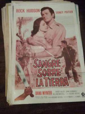 Afiche De Cine Original Sangre Sobre La Tierra Rock Hudson
