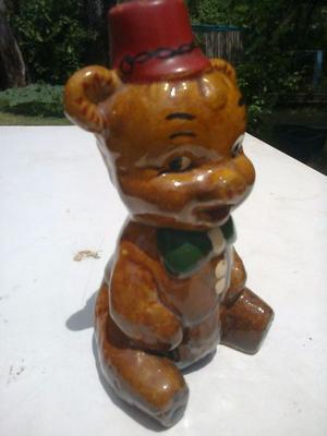 Antiguo OSITO alcancía de cerámica muy buen estado -