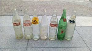 Lote De Botellas Antiguas Coca Cola Fanta Paso De Los Toros