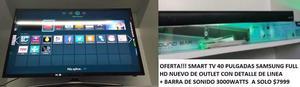 Smart TV 40 Samsung mas barra sonido nuevo