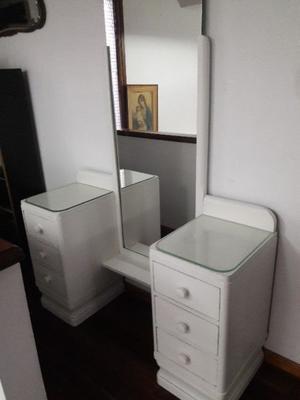 Antiguo Vestidor Toilette Blanco