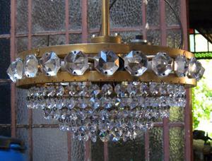 Lámpara de bronce imperio de 5 luces.