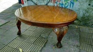 Antigua mesa ratona estilo chippendale