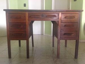 Escritorio antiguo de madera maciza posot class - Escritorios madera maciza ...